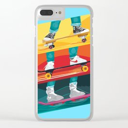 Back to the Future Alternative Movie Poster Clear iPhone Case