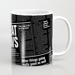 The Good Times Vol. 1, No. 1 REVERSED / Newspaper with only good news Coffee Mug