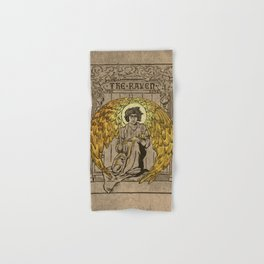 The Raven. 1884 edition cover Hand & Bath Towel