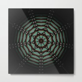 Spider Totem Meditation Mandala Metal Print