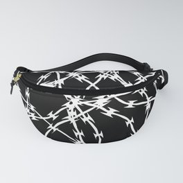 Trapped White on Black Fanny Pack