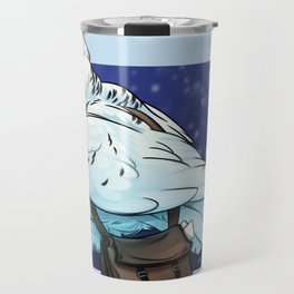 Snowy Owl Messenger Travel Mug