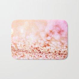 Pink shiny glitter - Sparkle Girly Valentine Backdrop Bath Mat