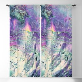 Abstract Purple Abalone Shell Blackout Curtain