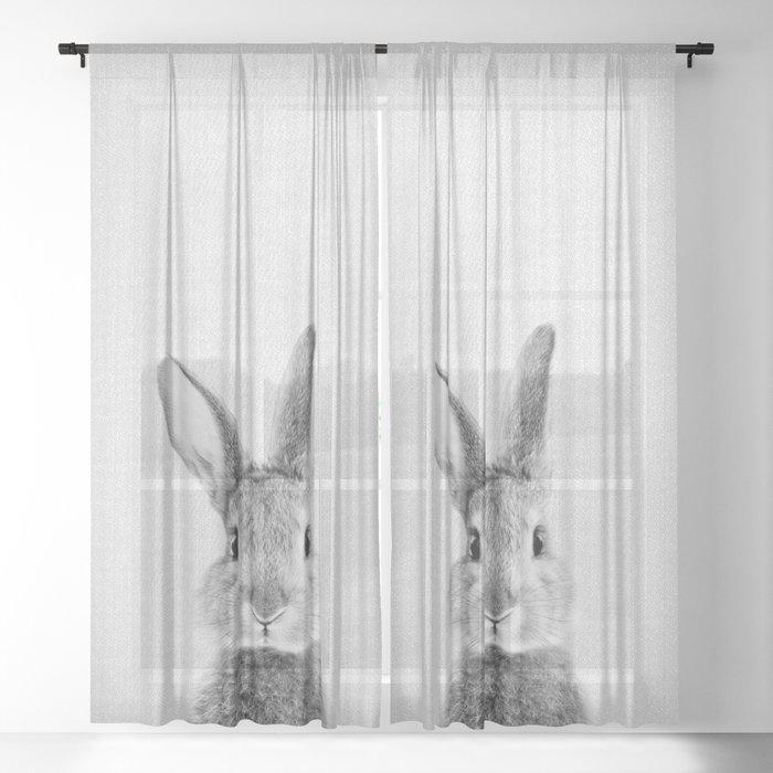 Rabbit - Black & White Sheer Curtain