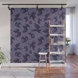 Batcats purple Wall Mural
