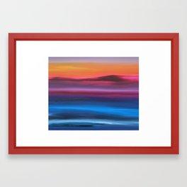 Violet Skies II Framed Art Print