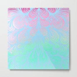 Pattern of Pastel Swirls Metal Print