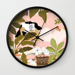 How Many Plants Is Enough Plants? Wall Clock
