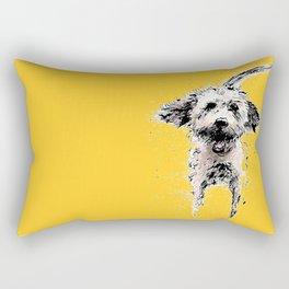 Labradoodle Larking! Rectangular Pillow