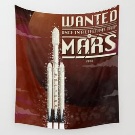 Spacex rocket to Mars Wall Tapestry