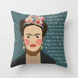 Strange Frida Throw Pillow