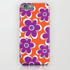 retro purple flower Slim Case iPhone 6s