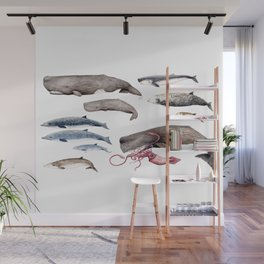 Deep sea whales Wall Mural