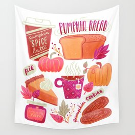 Pumpkin Spice is Nice Wall Tapestry