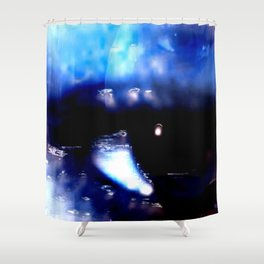 Blue Eyed Confusion Shower Curtain