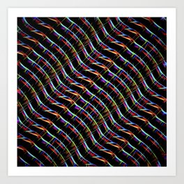 Blazing Neon Worm Line Dance I Art Print