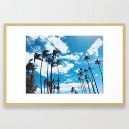 Kona Winds & Kailua Palms Framed Art Print