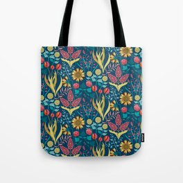 Florid Dreams Blue Tote Bag