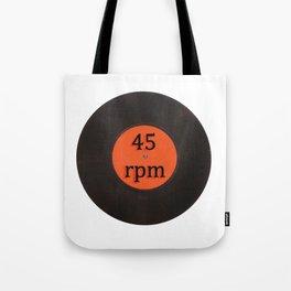 Vinyl record vintage 45 rpm 7 inch single Tote Bag
