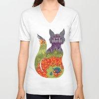alice in wonderland V-neck T-shirts featuring Wonderland by Heather Searles