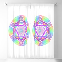 Rainbow Net Metatron Blackout Curtain