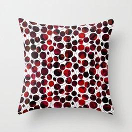 nice-feuilles-Rouge Throw Pillow
