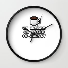 Funny Coffee Benefits - Caffeine Drinker Hot Drink Gift Wall Clock