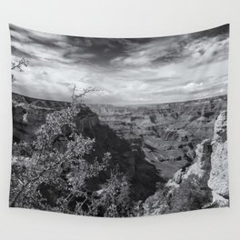 Grand Canyon No. 7 bw Wall Tapestry