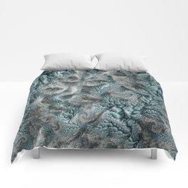 Floral Fantasy 07 aqua Comforters