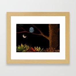 Lonely owl Framed Art Print