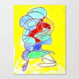 Faucet Blue Canvas Print