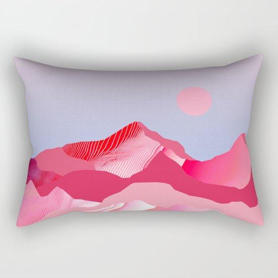 Pink Sun Blush Rectangular Pillow