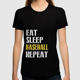 Eat. Sleep. Baseball. Repeat. T-shirt