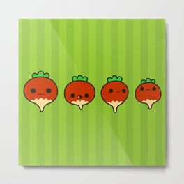 Cute radishes Metal Print