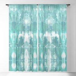Aqua Blue Lagoon Sheer Curtain