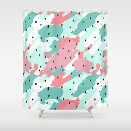 Pastel Camo Shower Curtain