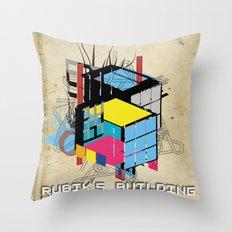 Rubik's building - Vienna 2044 Throw Pillow