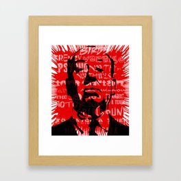 HOMAGE TO HITCHCOCK Framed Art Print