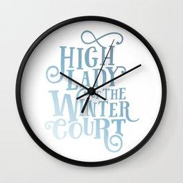 High Lady Winter Court Wall Clock