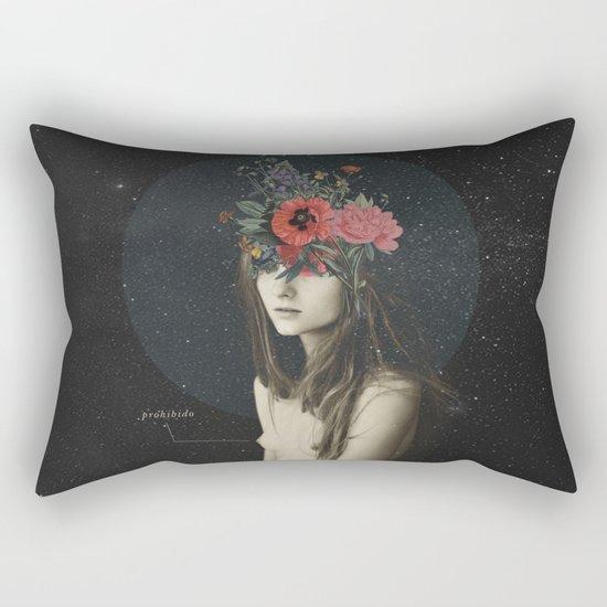 mujer florero Rectangular Pillow