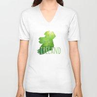 ruben ireland V-neck T-shirts featuring Ireland by Stephanie Wittenburg