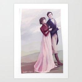 Elizabeth and Fitzwilliam Darcy Art Print