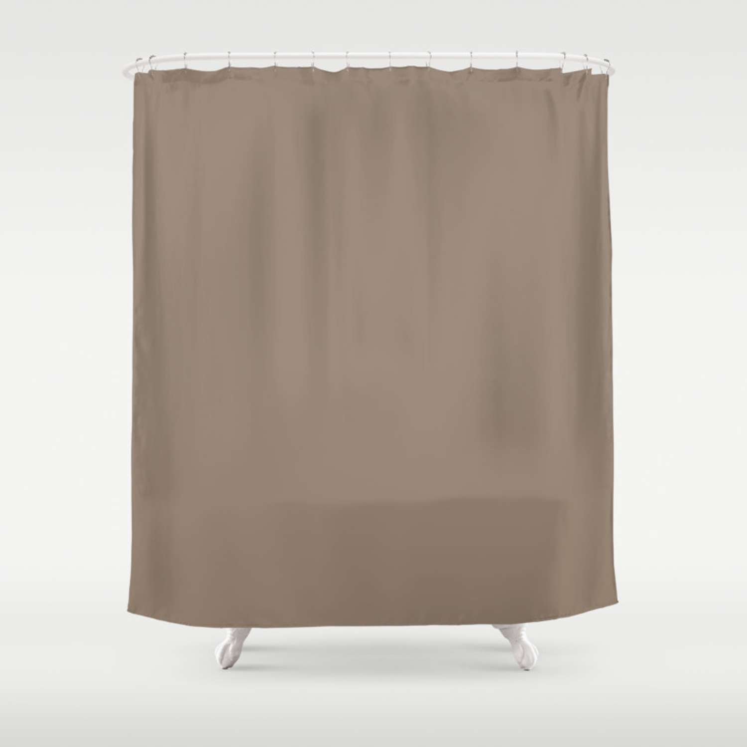 Baby Blue Ocean Sandy Brown Coordinating Solid Shower Curtain