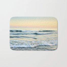 Serenity sea. Vintage. Square format Bath Mat