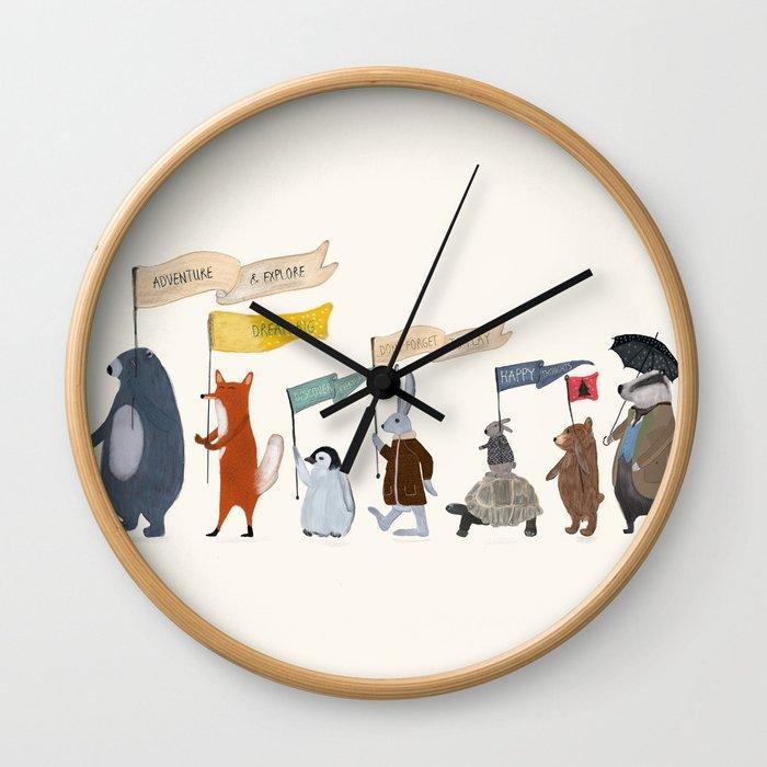 adventure and explore Wall Clock