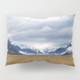 The Home of the Long White Cloud on the Road to Milford Sound Pillow Sham