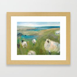 Flock of Sheep Framed Art Print