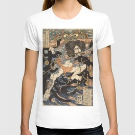 Utagawa Kuniyoshi  - One Hundred And Eight Heroes T-shirt