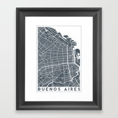 Buenos Aires map Framed Art Print